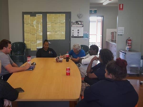 Five Cook Region support workers undertake mental health training in an indoor classroom
